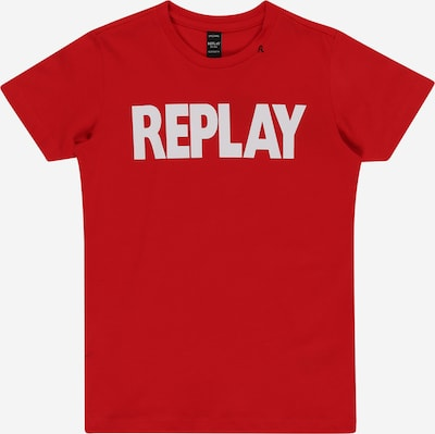 REPLAY Shirt in rot / offwhite, Produktansicht