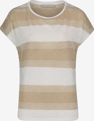 Betty & Co Ringelshirt kurzarm in beige / naturweiß, Produktansicht