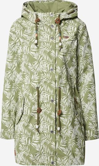 Ragwear Prehoden plašč 'Canny Leaves W' | zelena / bela barva, Prikaz izdelka