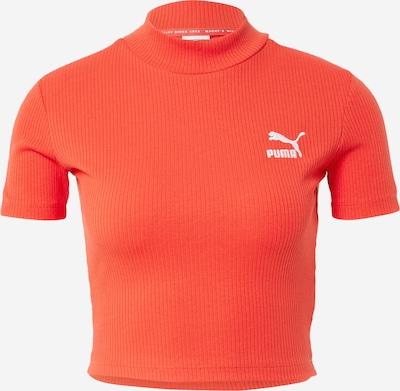 PUMA Shirt in de kleur Knalrood / Wit, Productweergave