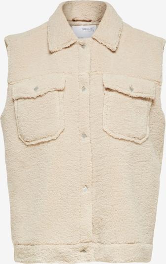 SELECTED FEMME Bodywarmer 'SLFJANY' in de kleur Crème, Productweergave