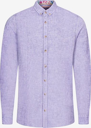 COLOURS & SONS Leinenhemd 'Liam' in lila, Produktansicht