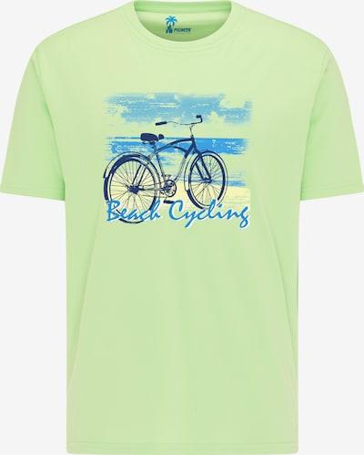 PIONEER Shirt in blau / hellgrün, Produktansicht