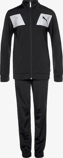 PUMA Trainingsanzug in schwarz / weiß, Produktansicht