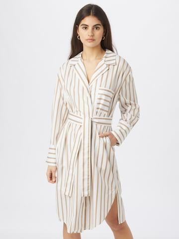 Robe-chemise 'C_Disso' BOSS Casual en beige