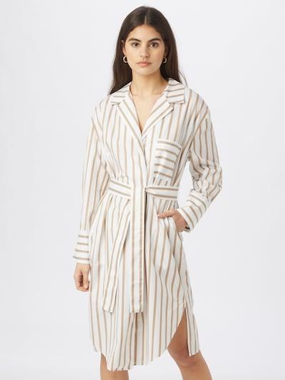 BOSS Casual Košilové šaty 'C_Disso' - béžová / bílá, Model/ka