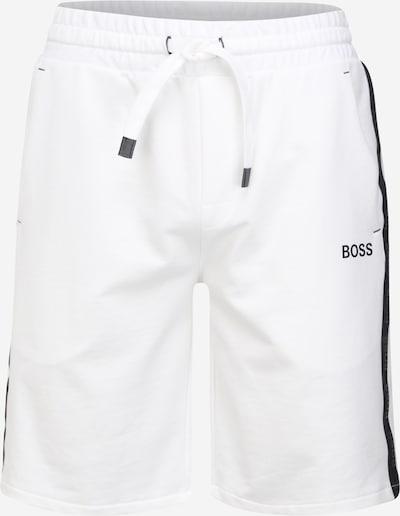 Pantaloni 'Heritage' BOSS Casual pe negru / alb murdar, Vizualizare produs