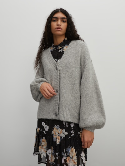 EDITED Knit cardigan 'Eliana' in Grey, View model