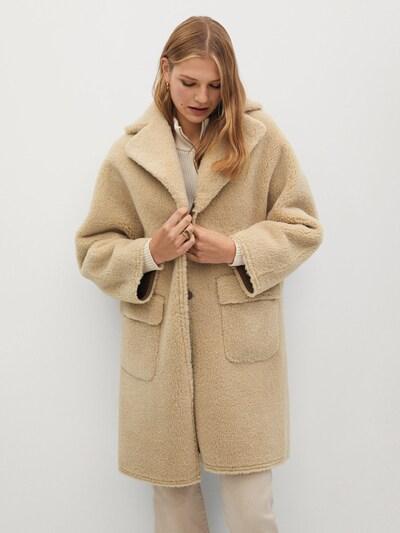 MANGO Mantel 'STAY' in beige / braun, Modelansicht
