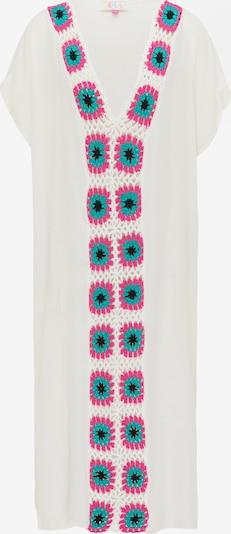 IZIA Sommerkleid in blau / neonpink / weiß, Produktansicht