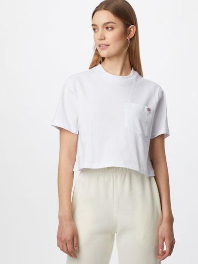 DICKIES Тениска 'Porterdale' в бяло: Изглед отпред