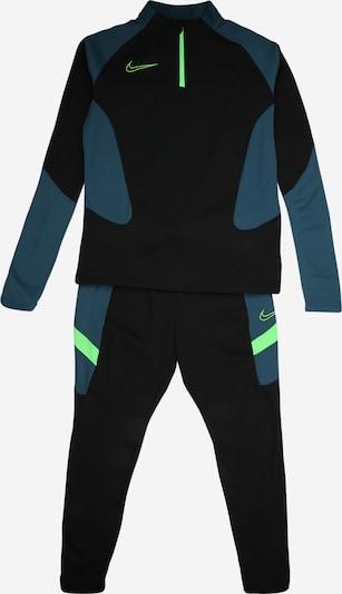 NIKE Trainingsanzug in petrol / neongrün / schwarz, Produktansicht