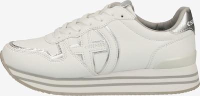 CHIEMSEE Sneaker in silber / weiß: Frontalansicht