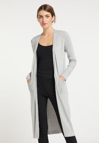 usha BLACK LABEL Knitted Coat in Grey