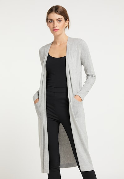 usha BLACK LABEL Cardigan in hellgrau, Modelansicht