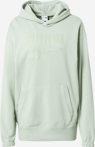 PUMA Sweatshirt 'PUMAxABOUT YOU' in Grün