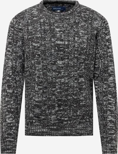 BLEND Pullover in dunkelgrau / weiß, Produktansicht