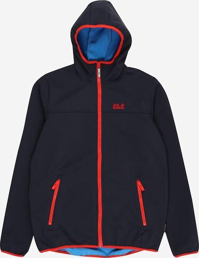 JACK WOLFSKIN Outdoorová bunda 'Fourwind' - námornícka modrá / svetločervená, Produkt
