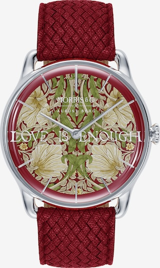 August Berg Uhr 'MORRIS & CO Silver Red Perlon 38mm' in rot / silber, Produktansicht