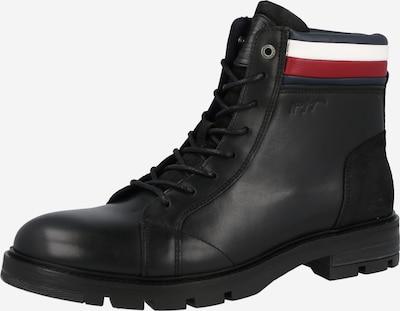TOMMY HILFIGER Stiefel in karminrot / schwarz / weiß, Produktansicht