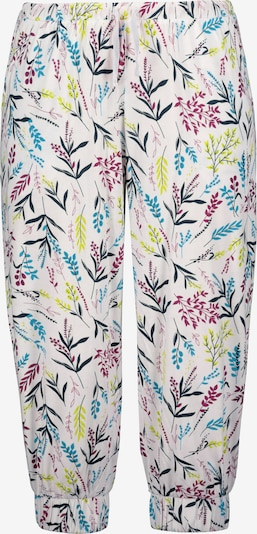 Ulla Popken Pyjamahose in blau / gelb / rot / schwarz / weiß, Produktansicht