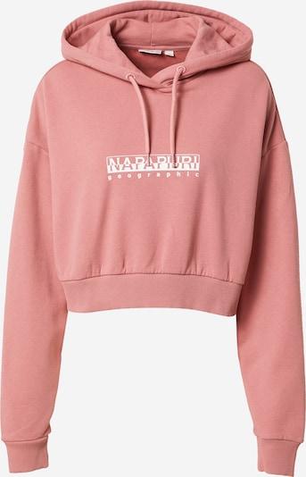 Bluză de molton NAPAPIJRI pe rosé / alb, Vizualizare produs
