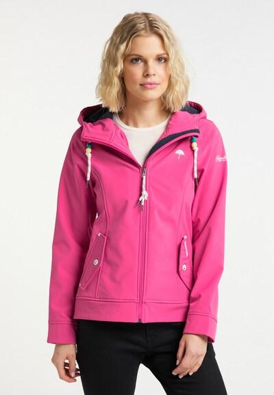 Schmuddelwedda Functionele jas in de kleur Neonroze: Vooraanzicht