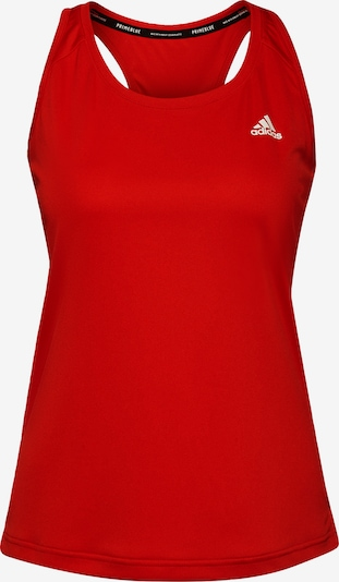 ADIDAS PERFORMANCE Sporttop in rot / weiß, Produktansicht