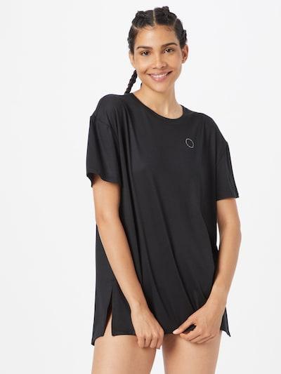 HOLLISTER Тениска за спане в черно / бяло: Изглед отпред