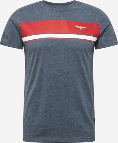 Pepe Jeans Majica 'BENDER' | golobje modra / rdeča / bela barva, Prikaz izdelka