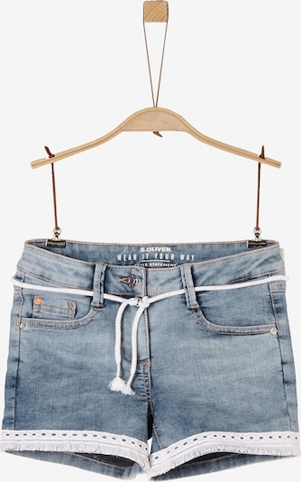 s.Oliver Shorts in blue denim / weiß, Produktansicht