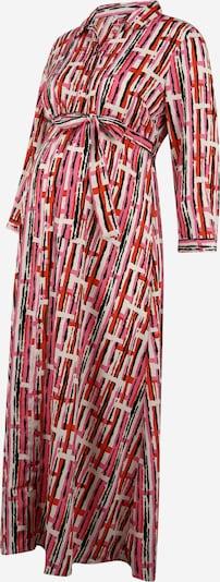 Pieces Maternity Košilové šaty 'Rosia' - tmavě oranžová / pink / černá / bílá, Produkt