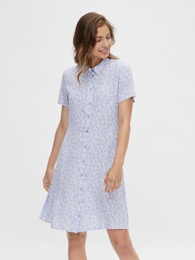 PIECES Kleid 'Rebecca' in flieder / weiß, Modelansicht