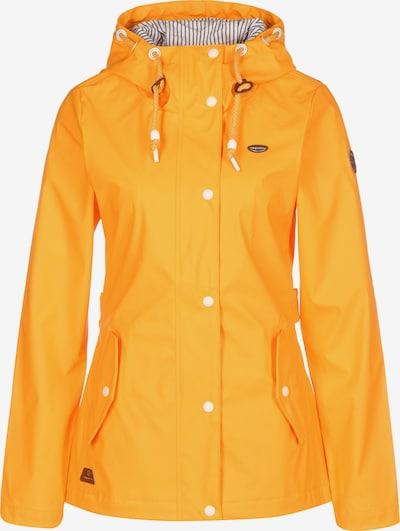 Ragwear Veste outdoor ' Marge ' en marron / moutarde / blanc, Vue avec produit