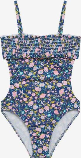 MANGO KIDS Badeanzug in türkis / dunkelblau / hellgrün / hellpink / weiß, Produktansicht