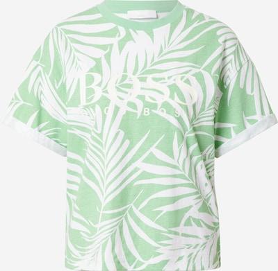 BOSS Casual Shirt 'Evina' in grün / weiß, Produktansicht