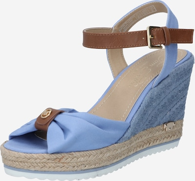 TOM TAILOR Sandales en bleu clair / marron, Vue avec produit