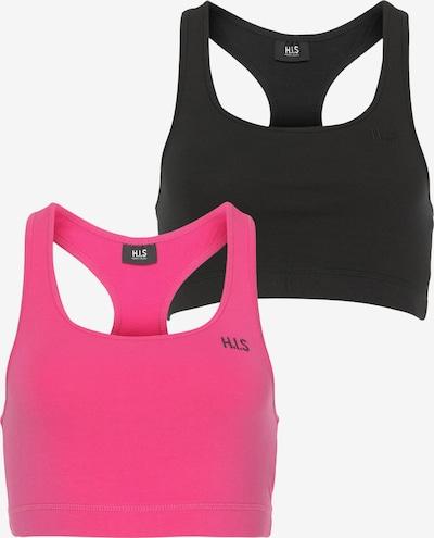 HIS JEANS Sport-BH in pink / schwarz, Produktansicht