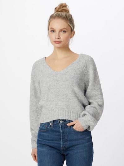 Tally Weijl Sweater 'SPUACBUBLE' in light grey, View model