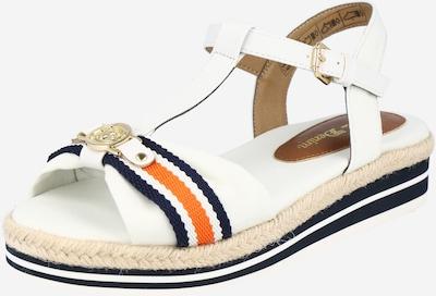Sandalo con cinturino TOM TAILOR di colore navy / arancione / bianco, Visualizzazione prodotti