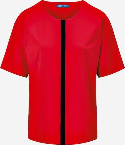 DAY.LIKE Kurzarmbluse Blusen-Shirt zum Schlupfen in rot / schwarz, Produktansicht