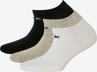 CONVERSE Sokken in de kleur Taupe / Zwart / Wit, Productweergave