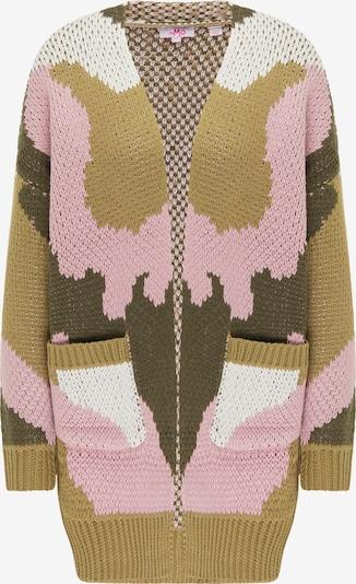 MYMO Gebreid vest in de kleur Beige / Olijfgroen / Lichtroze / Offwhite, Productweergave