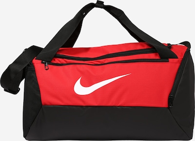 NIKE Sporttasche 'BRSLA S DUFF - 9.0' in rot / schwarz / weiß, Produktansicht