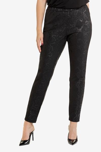 Ulla Popken Damen große Größen Jerseyhose 726219 in schwarz, Modelansicht