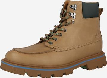 Boots stringati 'Denory' di BOSS Casual in beige