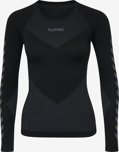 Hummel Functioneel shirt in de kleur Basaltgrijs / Zwart, Productweergave