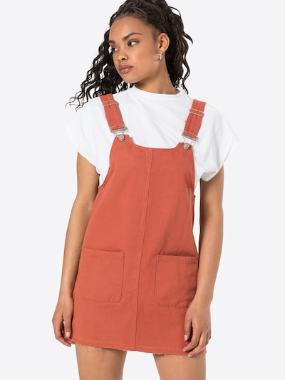 24COLOURS Kleid in rostbraun, Modelansicht
