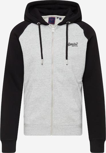 Superdry Zip-Up Hoodie in Light grey / Black, Item view
