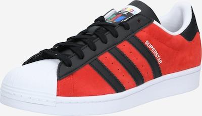 ADIDAS ORIGINALS Sneaker 'Superstar' in karminrot / schwarz, Produktansicht